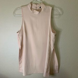 Forever 21 light coral blouse with split sides